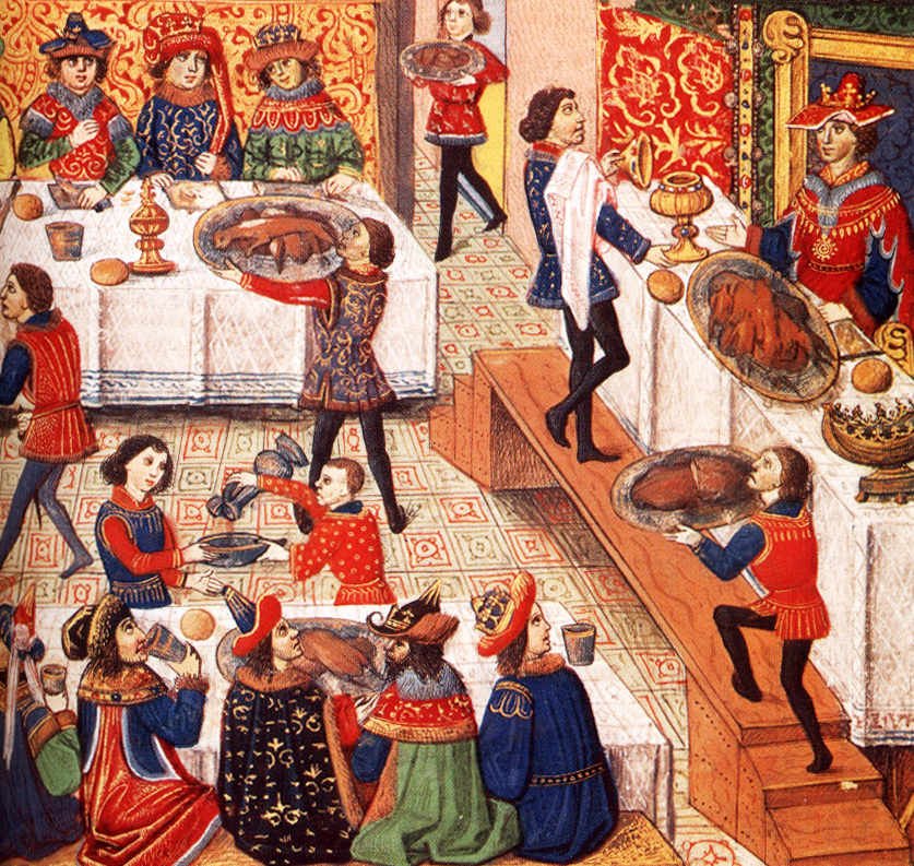 Boar's head was a popular staple of fifteenth-century entremets in France.
