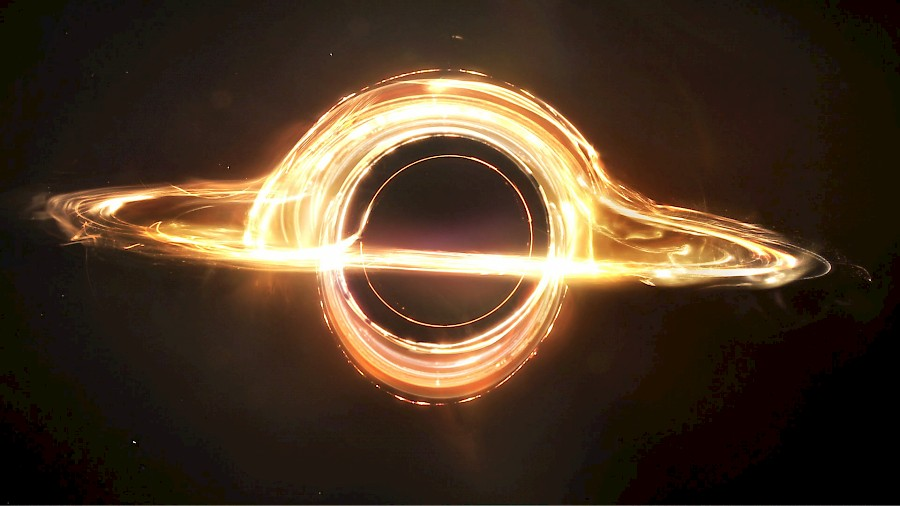 The above still from Christopher Nolan's <i>Interstellar</i> (2014) represents the most accurate animation of a black hole seen on film, and is the collective result of the research and labor of a thirty-person team.