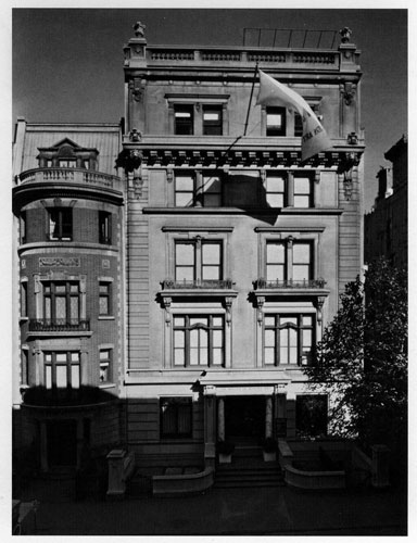 In 1937, the Museum of Modern Art was housed in a townhouse on 11 West 53rd Street.