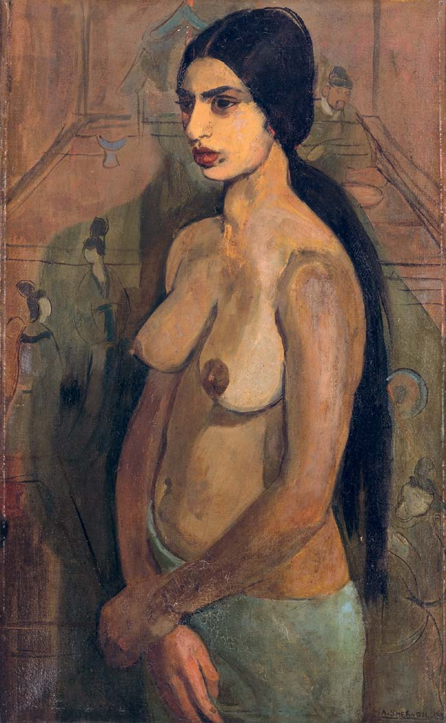 Amrita Sher-Gil, <em>Self-Portrait as Tahitian,</em> 1934. Oil on canvas. Collection of Navina and Vivan Sundaram.