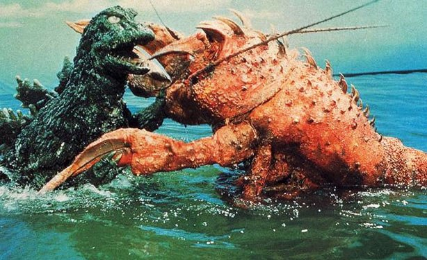 Film still from <i>Godzilla vs. The Sea Monster</i> (1966), directed by Jun Fukuda.