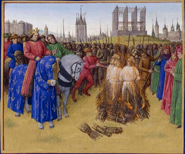 Jean Fouquet, <i>The Supplication of the Heretics</i>, 1210. Oil painting.