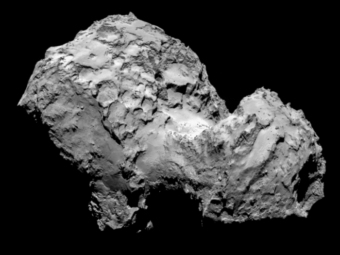 Image of the Comet 67P sent by the Rosetta Probe. Photo: European Space Agency.