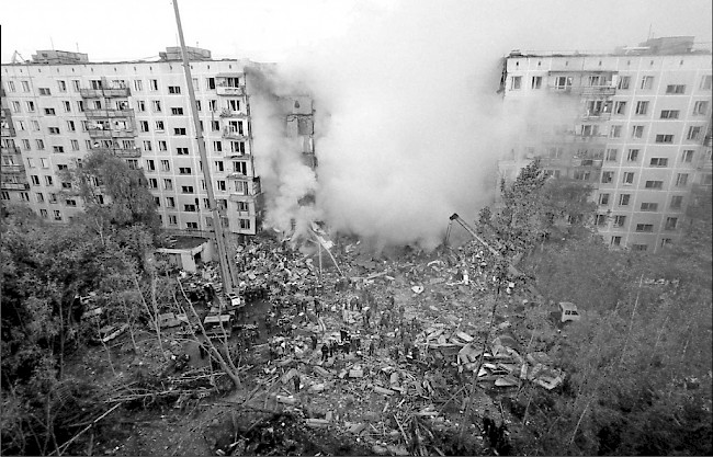 Vladimir Putin, <em>Act of Terror,</em> 1999. Documentation of an action in the public sphere.
