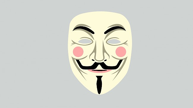 A vector illustration of the contemporary Guy Fawkes mask as designed by David Lloyd.