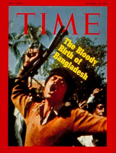 Cover of <em>Time</em> magazine, December 20, 1971. Published four days after the liberation of Bangladesh.
